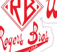 usa warriors logo by rogers bros Sticker