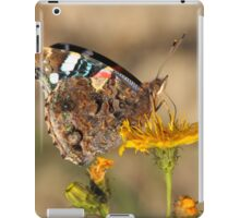 red admiral on yellow flower iPad Case/Skin