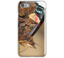 red admiral on yellow flower iPhone Case/Skin