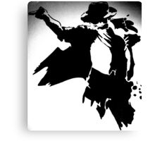 Great Dancing King of Pop Stencil Art Canvas Print