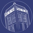 Doctor Who - TARDIS CIRCLE T-shirt by fanboydesigns