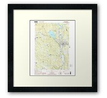 USGS TOPO Map New Hampshire NH Franklin 329566 2000 24000 Framed Print