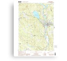 USGS TOPO Map New Hampshire NH Franklin 329566 2000 24000 Canvas Print