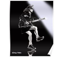 Angus Young Portrait Poster