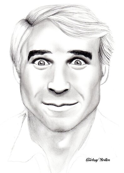 Steve Martin Portrait by Courtney Mitchell