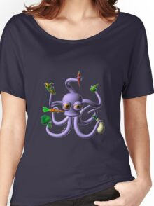 Octopus juggling vegetables from Valxart.com  Women's Relaxed Fit T-Shirt