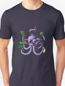 Octopus juggling vegetables from Valxart.com  Unisex T-Shirt