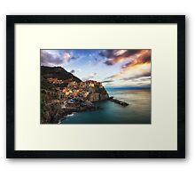 Sunset over Manarola Framed Print