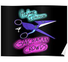 Gatchaman Crowds Hajime Scissors Poster