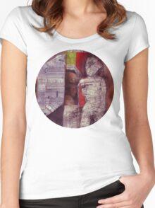 Man In Doorway Women's Fitted Scoop T-Shirt