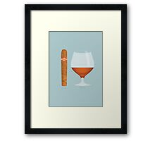 Brandy and Cigar Framed Print
