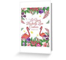 Tropical Beauty Design no. 3 Greeting Card