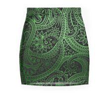 Stylish green Paisley Pattern Mini Skirt