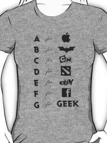 Geek ABC (black) T-Shirt
