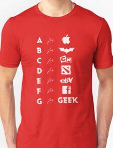 Geek ABC (white) T-Shirt