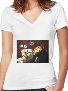 The Big Lebowski - Dude Women's Fitted V-Neck T-Shirt