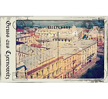 Greetings from Chernivtsi VIII (Postcard Imitated) Photographic Print
