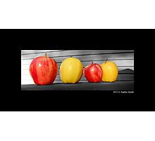 Washington State Honeycrisp And Golden Delicious Apple Photographic Print