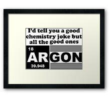Argon Jokes Framed Print