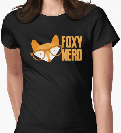 FOXY nerd Womens Fitted T-Shirt