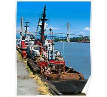 Fraser River Tugs Poster
