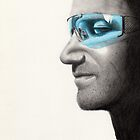 Bono Portrait by Courtney Mitchell