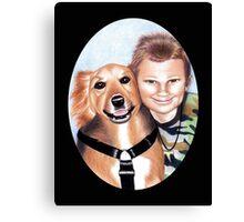 Boy With Dog Canvas Print