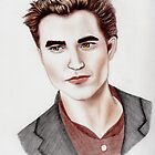 Edward Cullen Portrait by Courtney Mitchell