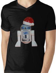 R2-D2 Santa Mens V-Neck T-Shirt