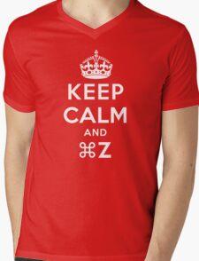 Keep Calm Geeks: Command Z Mens V-Neck T-Shirt
