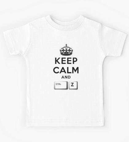Keep Calm Geeks: Control Z Kids Tee