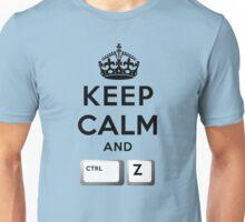 Keep Calm Geeks: Control Z Unisex T-Shirt
