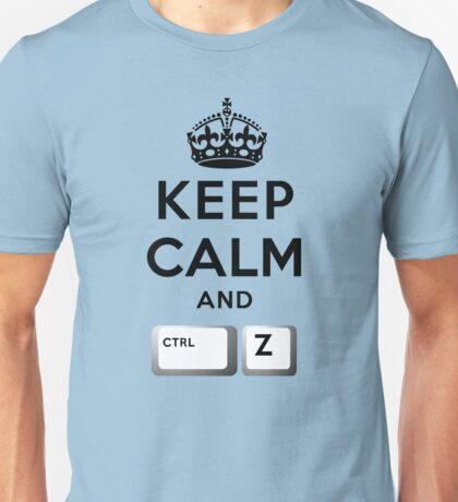 Keep Calm Geeks: Control Z T-Shirt