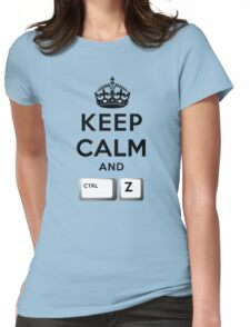 Keep Calm Geeks: Control Z Womens Fitted T-Shirt