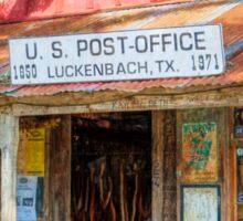 Historic Luckenbach TX Sticker