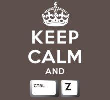 Keep Calm Geeks: Command Z One Piece - Short Sleeve