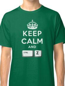 Keep Calm Geeks: Command Z Classic T-Shirt