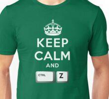 Keep Calm Geeks: Command Z Unisex T-Shirt