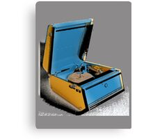 Record Player - 1960's. Canvas Print
