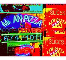 M an Pizza Photographic Print