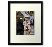 all happening at the zoo III Framed Print