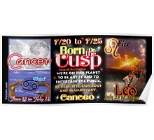 Born on the Cusp Cancer & Leo   Poster