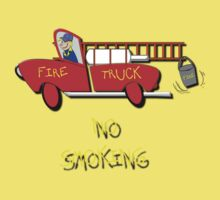 Fire Truck - No Smoking, T-shirt by Dennis Melling