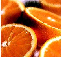 Sliced Oranges Fruit Poster, Print & Card Photographic Print