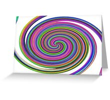 MORE COLOURED SWIRLS ON THROW PILLOWS Greeting Card