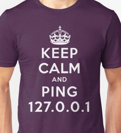 Keep Calm Geeks: Ping Localhost T-Shirt