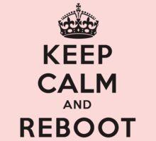 Keep Calm Geeks: Reboot Kids Tee