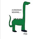 A Dinosaur wearing smart shoes by Amar Taterio