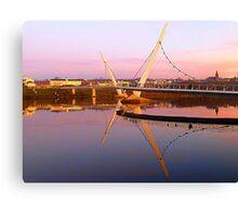 The Peace Bridge At Sunset Canvas Print