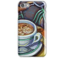 Green Schwinn bicycle with cappuccino and biscotti. iPhone Case/Skin